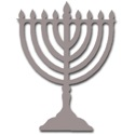 Menorah Foam Cutout