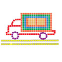 Foam Mosaic Tiles- Truck (4 PACK)