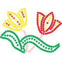 Foam Mosaic Tiles - Flower (4-PACK)