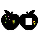 Apple Shape Card with Stencil (6 pack)