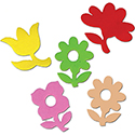 Foam Assorted Flower Stickers - 145 Pieces