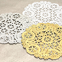Gold and Silver Doilies