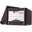 Woodgrain Storage File with Lift-Off Lid