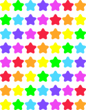 Value Pack Stickers-Sparkle Stars