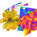 Color diffusing paper sheets