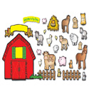 Farm Friends Bulletin Board Set