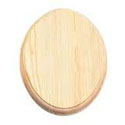 Wood Oval plaque