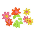 FELTIES DAISY WITH STITCHES STICKERS 48/PK