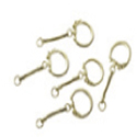 Steel Key Chain Brass Plated