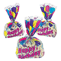 Cellophane Birthday Balloon Goody Bags