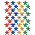MULTI-SMILING STARS SPARKLE STICKERS