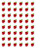 Apples Stickers (6-PACK)