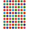 Colorful Daisies Stickers