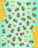 Bees & Flowers Stickers
