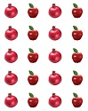 Apple & Pomegranate Stickers (6-PACK)