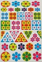 Optical Flower Shape Stickers