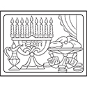 Color Your Own Puzzle - Chanukah