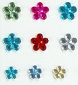 Individual Rhinestones - Assorted Flowers