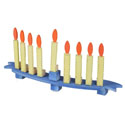 Wooden Candle Menorah
