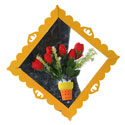 Mirror Flower Plaque