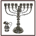 Menorah and Oil Pitcher Cutout