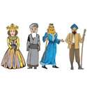Purim Characters Cutout