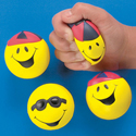 Foam goofy smile face relaxable balls