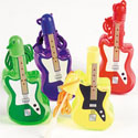 Plastic Guitar Bubble Bottle Necklaces