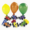 Plastic Race Car Balloon Racers