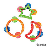 Plastic Mini Shaped Tambourines