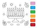 PAINT YOUR OWN - CHANUKAH (6 PACK)