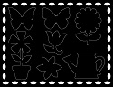 Scratch Art Stickers - Flowers