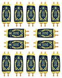 Small Sefer Torah Stickers