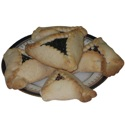 Plate of Hamantashen Cutout